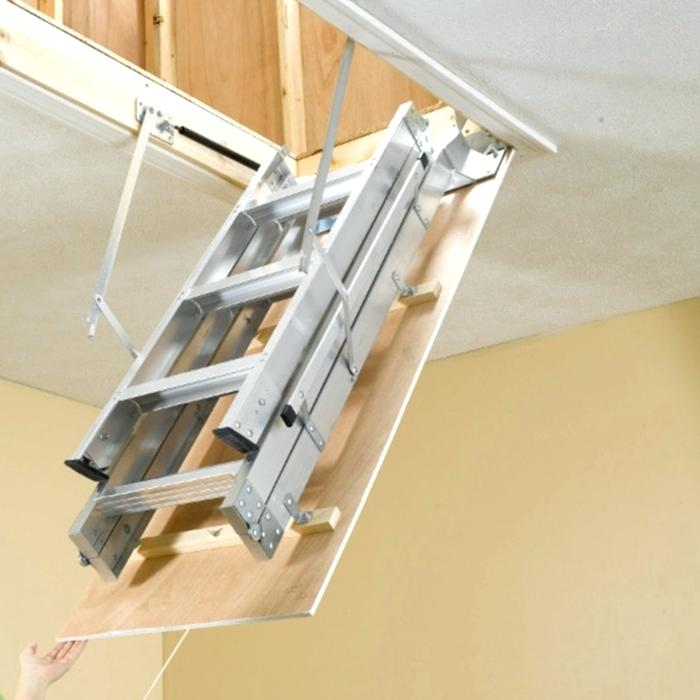 insulation best door attic ladder drop